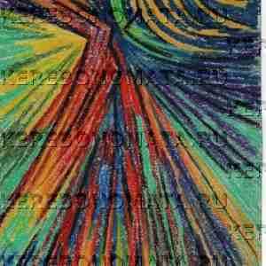 предчувствие перемен, пастель, резонансная графика