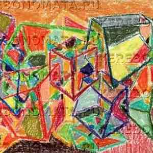 трансформация правого 02, пастель, абстракция